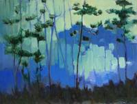Blue Evening Pines