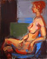 Nude in Blue Chair