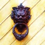 """Gothic Iron Head Door knocker"" by ARTBOX"