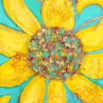 """""""Sunflower on Blue"""" by SimplyColor"""