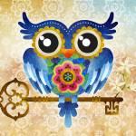 """Spring Guardian Owl"" by sandygrafik_arts"