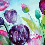 """""""collecting tulips purples 10 FA"""" by ArtSamadhi"""