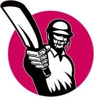 cricket player batsman pointing bat
