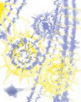 circle tie dye indigo and yellow