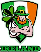 Irish leprechaun rugby player celtic shield Irelan