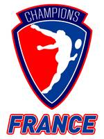 rugby player kicking ball champions France