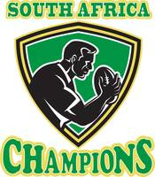 Rugby player South Africa Champions shield