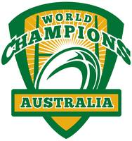 Rugby ball Australia World Champions
