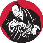"""""""Japanese Samurai warrior drawing sword"""" by patrimonio"""