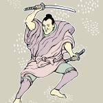 """""""Samurai warrior with katana sword fighting stance"""" by patrimonio"""