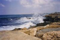 Waves at Paphos, Cyprus