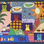 """Cat Family"" by careyscottart"