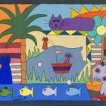 """Cat Fishing"" by careyscottart"