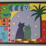 """Romantic Cat"" by careyscottart"