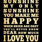 """lha-355-18x24-45 you are my sunshine"" by JoyHouseStudio"