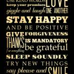 """lha-358-18x24-48 stay happy"" by JoyHouseStudio"