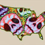 """Skull Map USA"" by ArtPrints"