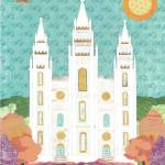 """Salt Lake LDS Temple Bright"" by AZeleskiCollages"