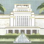 """Laie, Hawaii LDS Temple"" by AZeleskiCollages"