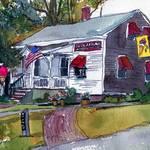 """""""Wellfleet Cape Cod Art, Nice Cream Stop"""" by schulmanart"""