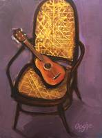 Ukulele on a Cane Chair