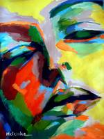 DRIFTING INTO A DREAM Abstract Portrait Painting H