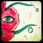 """Floating Fleur- peace enlarge"" by Sharixon"