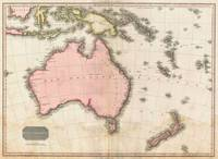 John Pinkerton's map of Australia and the South We