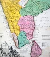 Map of the Indian Peninsula, 1733
