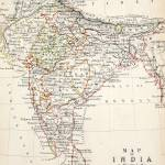 """Antique Map of India"" by fineartmasters"