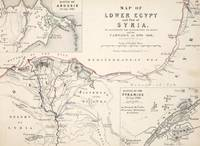 Antique Map of Lower Egypt and part of Syria