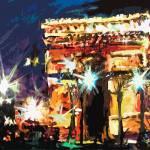"""Modern Paris Arc DeTriomphe"" by GinetteCallaway"