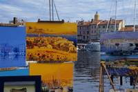 Paintings on the Harborside, France
