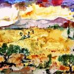 """Abstract Summer Landscape Original by Ginette"" by GinetteCallaway"