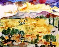 Abstract Summer Landscape Original by Ginette