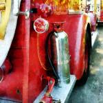 """Fire Extinguisher On Fire Truck"" by susansartgallery"