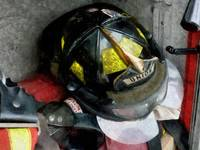 Fire Fighter's Helmet Closeup