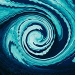 """Retro Aqua Vortex"" by GeorgeLewis"