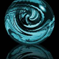 Aqua Orb Art Prints & Posters by George Lewis