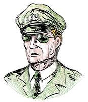 Portrait of a general with sunglasses