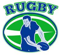 rugby passing front view ball