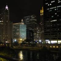 Chicago at Night by Patricia Schnepf