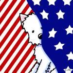 """""""Patriotic Peekaboo Westie"""" by KiniArt"""