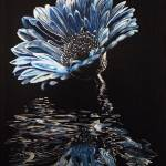 """Blue Chrysanthemum"" by cneartgallery"