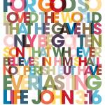 """""""John 3:16 VerseVisions Wall Art Poster"""" by MarkLawrence"""