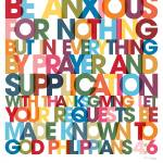 """Philippians 4:6 VerseVisions Wall Art Poster"" by MarkLawrence"