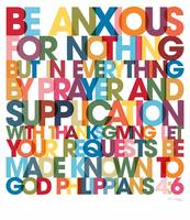 Philippians 4:6 VerseVisions Wall Art Poster