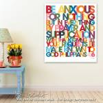 """""""Philippians 4:6. Bible Verse Modern Art Poster"""" by MarkLawrence"""