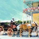 """Stagecoach At The Cosmopolitan Hotel"" by BeaconArtWorksCorporation"