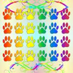 """Rainbow Dog Pawns and Flourishes"" by Almdrs"